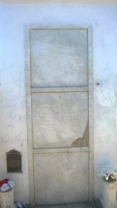Marie Laveau's tomb. There are still triple-Xs on its face, remnants of pilgrims looking for her blessing.
