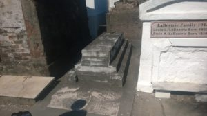 One of the oldest tombs in the cemetery. There aren't many of these stepped ones around.