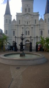 The St. Louis Cathedral, seen from Jackson Square.