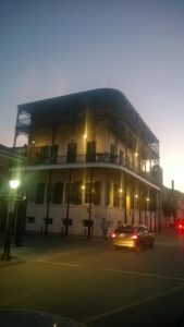 One of the many lovely buildings in the French Quarter. I like the ironwork on this one.