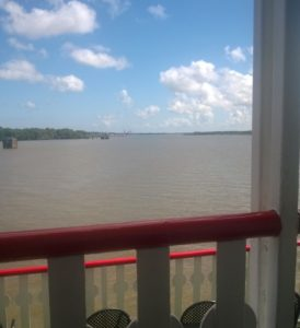 The mighty Mississippi, looking downstream.